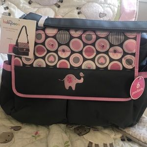 Other - New baby girl gray pink diaper bag